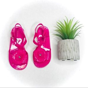 New Girls Old Navy Pink Fisherman Jelly Sandals Size 1 3 5